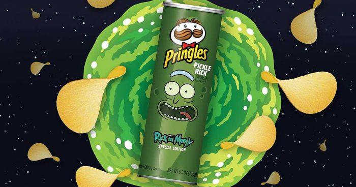 La série Rick and Morty s'associe avec Pringles pour sortir la nouvelle saveur Pickle Rick