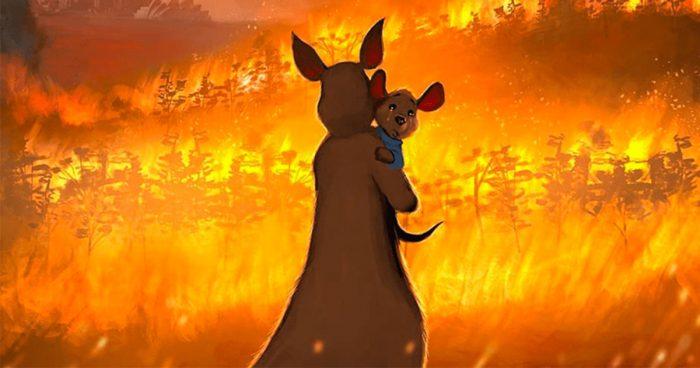 15 illustrateurs ont rendu hommage à l'Australie qui fait encore face à de terribles incendies