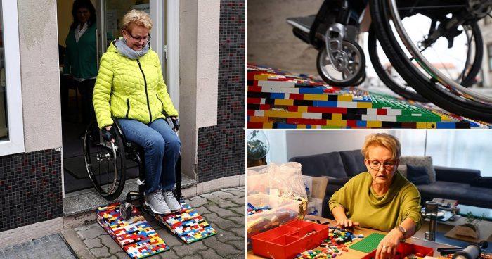 Elle construit des rampes en LEGO pour les personnes en fauteuil roulant