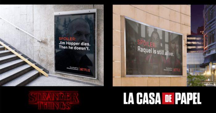 Des spoilers des séries Netflix dans les rues afin d'empêcher les gens de sortir