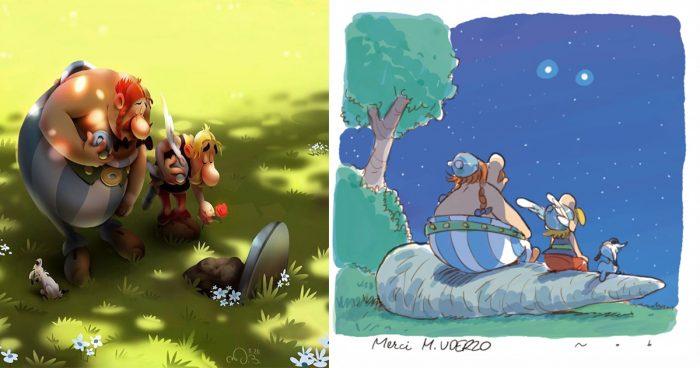 20 images qui rendent hommage à Albert Uderzo, le dessinateur et le Co-Créateur d'Astérix