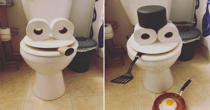 En plein confinement, elle transforme sa toilette en différents personnages
