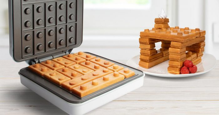 Cet appareil fait des gaufres qui ressemblent à des briques LEGO