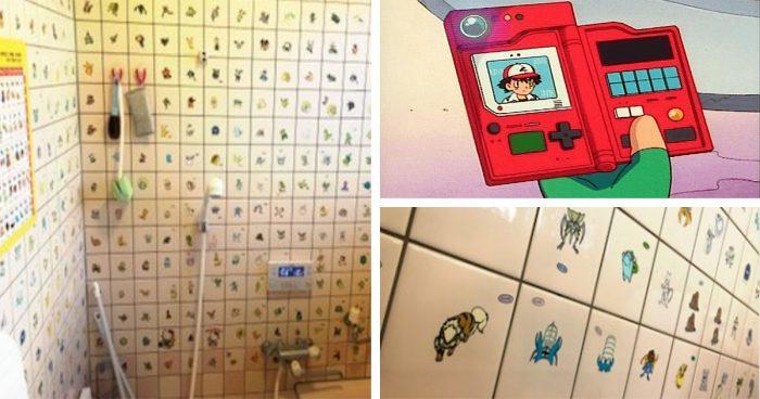 Elle transforme sa salle de bain en énorme Pokédex de 800 Pokémons