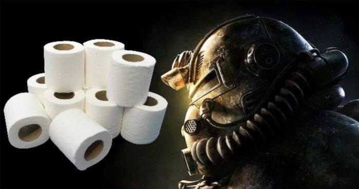 Les joueurs de Fallout 76 s'amusent à stocker du papier de toilette et font exploser les prix