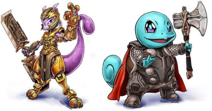 Il transforme les Pokémons en super-héros Marvel et le résultat est plus que parfait