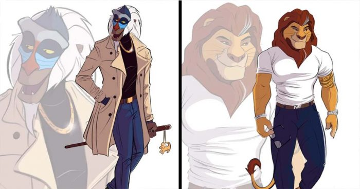 Cet artiste donne une apparence humaine aux personnages de Disney