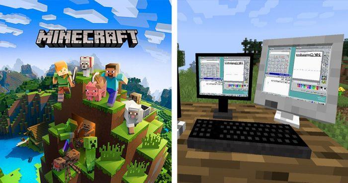 Il est maintenant possible d'utiliser un ordinateur avec Windows 95 dans Minecraft