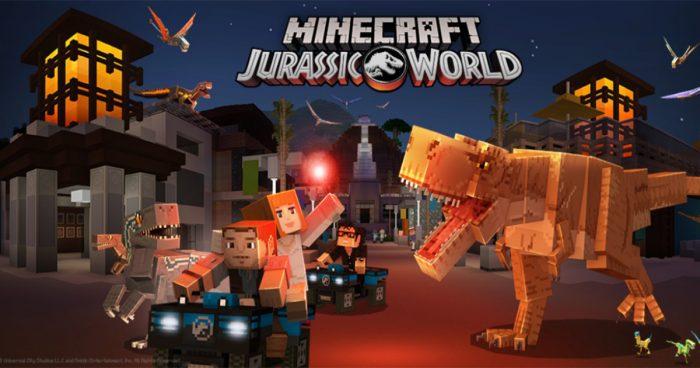 Minecraft annonce un DLC sur le thème de Jurassic World