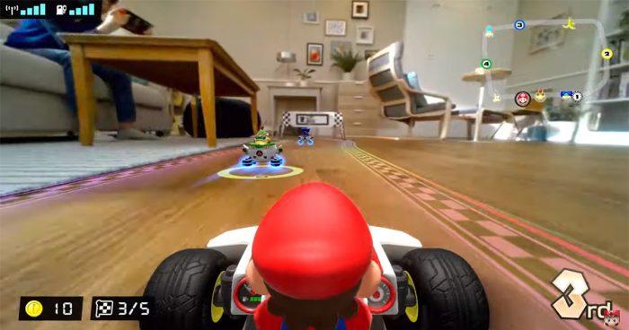 Faites de véritables pistes de course à la maison grâce à Mario Kart en réalité augmentée