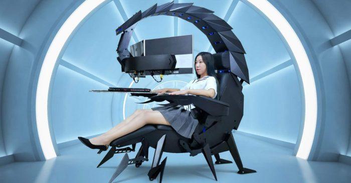 Découvrez la chaise de gaming robotique Cluvens Scorpion de 4350$