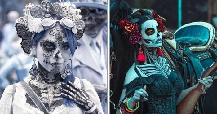 35 costumes vraiment incroyables du jour des morts 2020 au Mexique