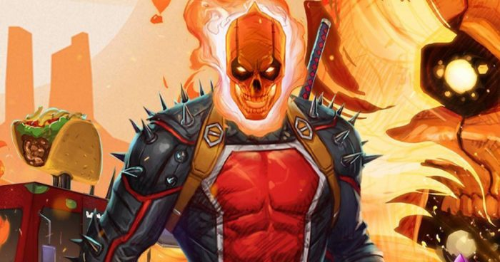 Marvel présente une version de Deadpool en Ghost Rider