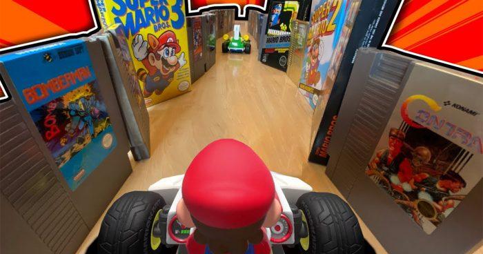 Il a créé une véritable course sur Mario Kart Live à l'aide de 200 cartouches NES