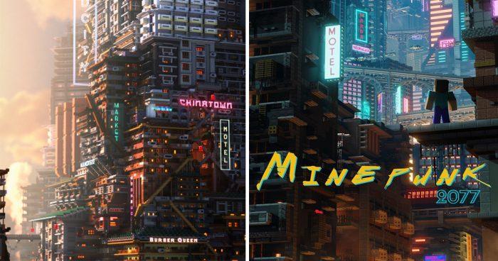 Un joueur a créé différents endroits de Cyberpunk 2077 dans Minecraft
