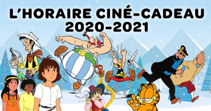 Découvrez l'horaire complet de Ciné-Cadeau 2020