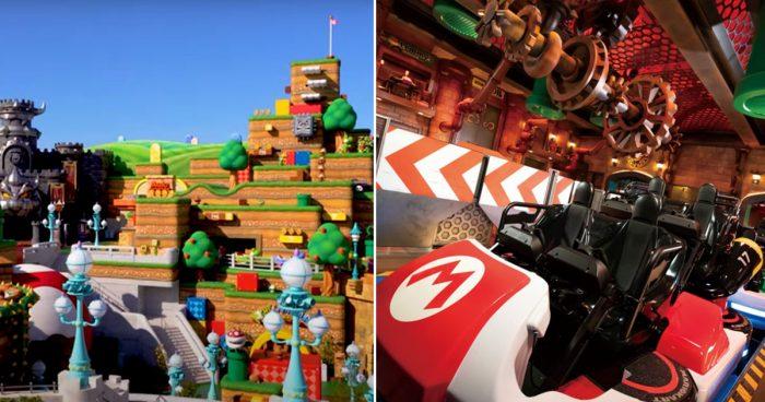 Un premier aperçu du parc d'attractions Super Nintendo World qui va bientôt ouvrir au Japon