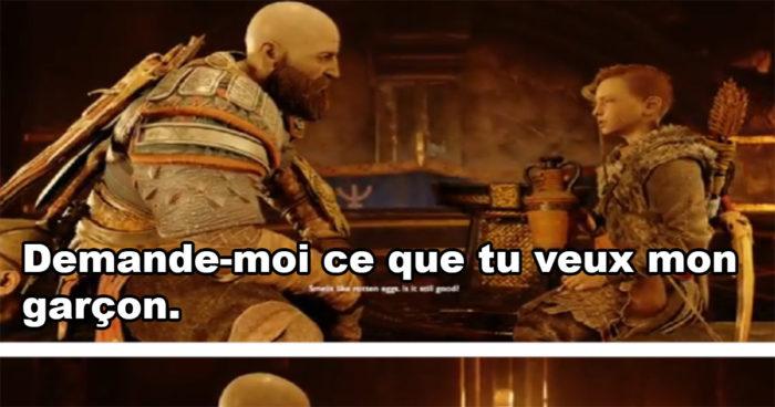 Quand Kratos doit répondre à la fameuse question