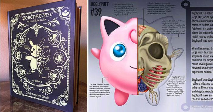 PokéNatomy : Le livre qui présente l'anatomie détaillée de 151 Pokémons