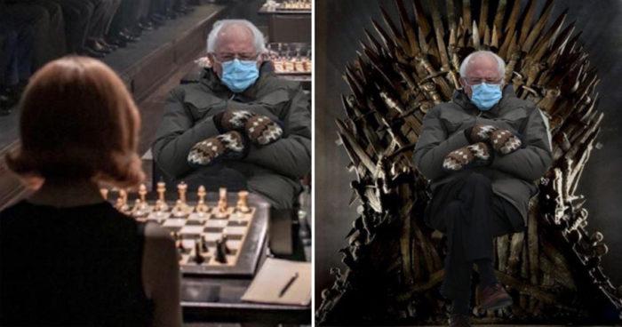 Les meilleurs montages du fameux meme de Bernie Sanders
