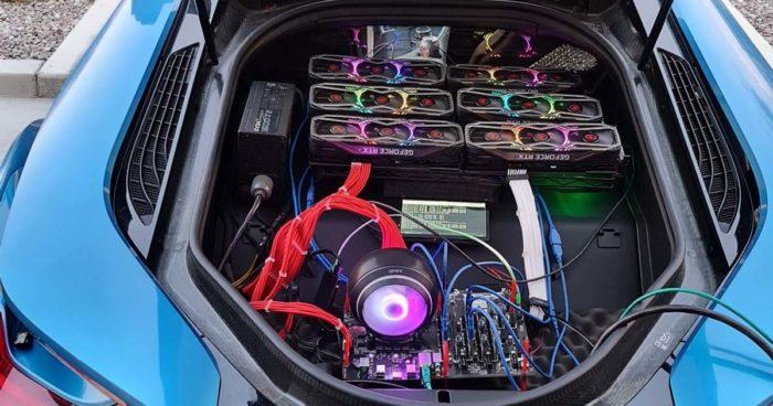 Il a construit une plateforme pour miner de la crypto-monnaie dans sa BMW