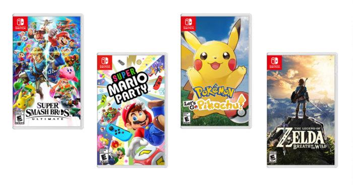 Top 10 des jeux Nintendo Switch les plus vendus jusqu'à maintenant