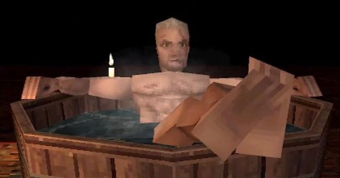 La scène de la baignoire de The Witcher 3 imaginée sur PS1