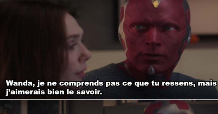 Vision explique le deuil à Wanda