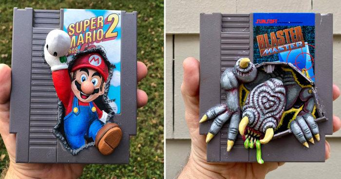 Cet artiste fait de l'art avec de vieilles cassettes de jeux vidéo