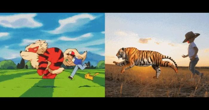 Il a recréé le générique de Pokémon avec de vrais humains et animaux