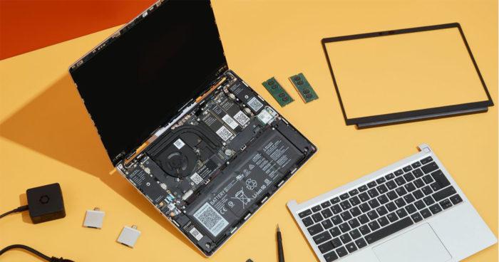 Une jeune entreprise lance ses ordinateurs portables modulables et faciles à réparer