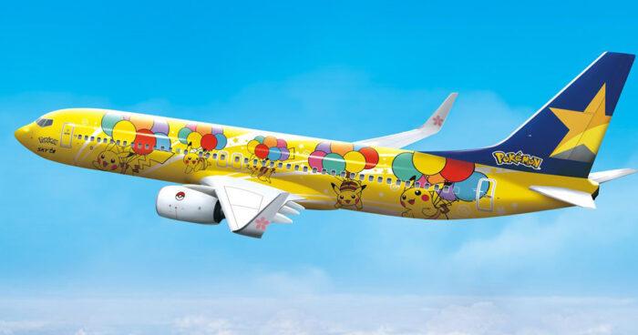 The Pokémon Company dévoile un avion à l'effigie de Pikachu